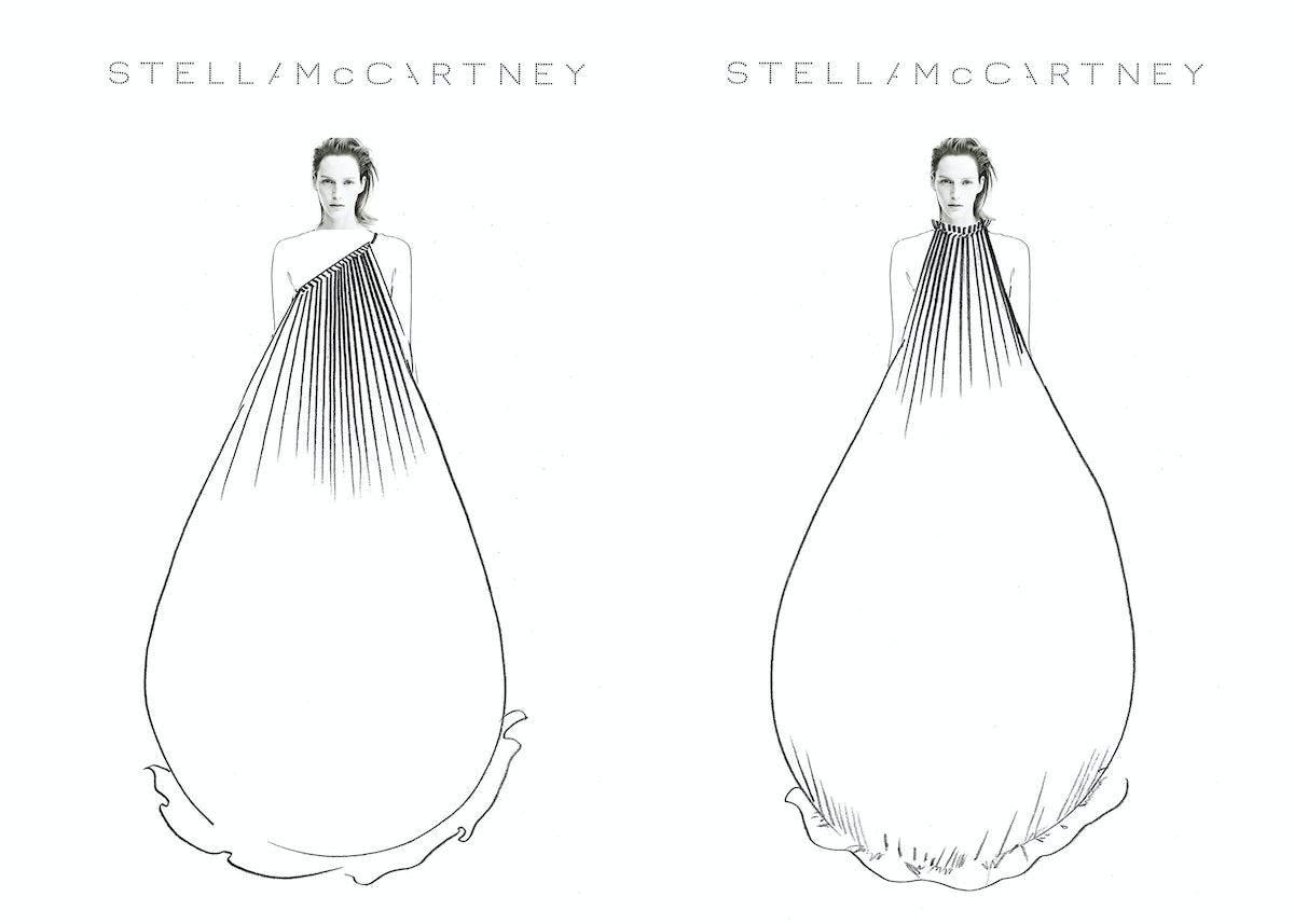 Stella McCartney sketches for Blanca Li