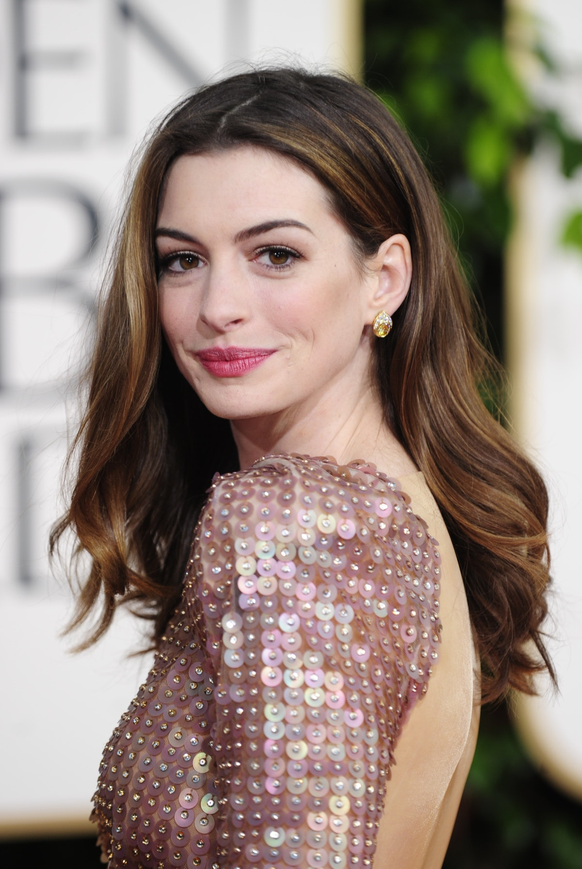 Actress Anne Hathaway arrives for the 68
