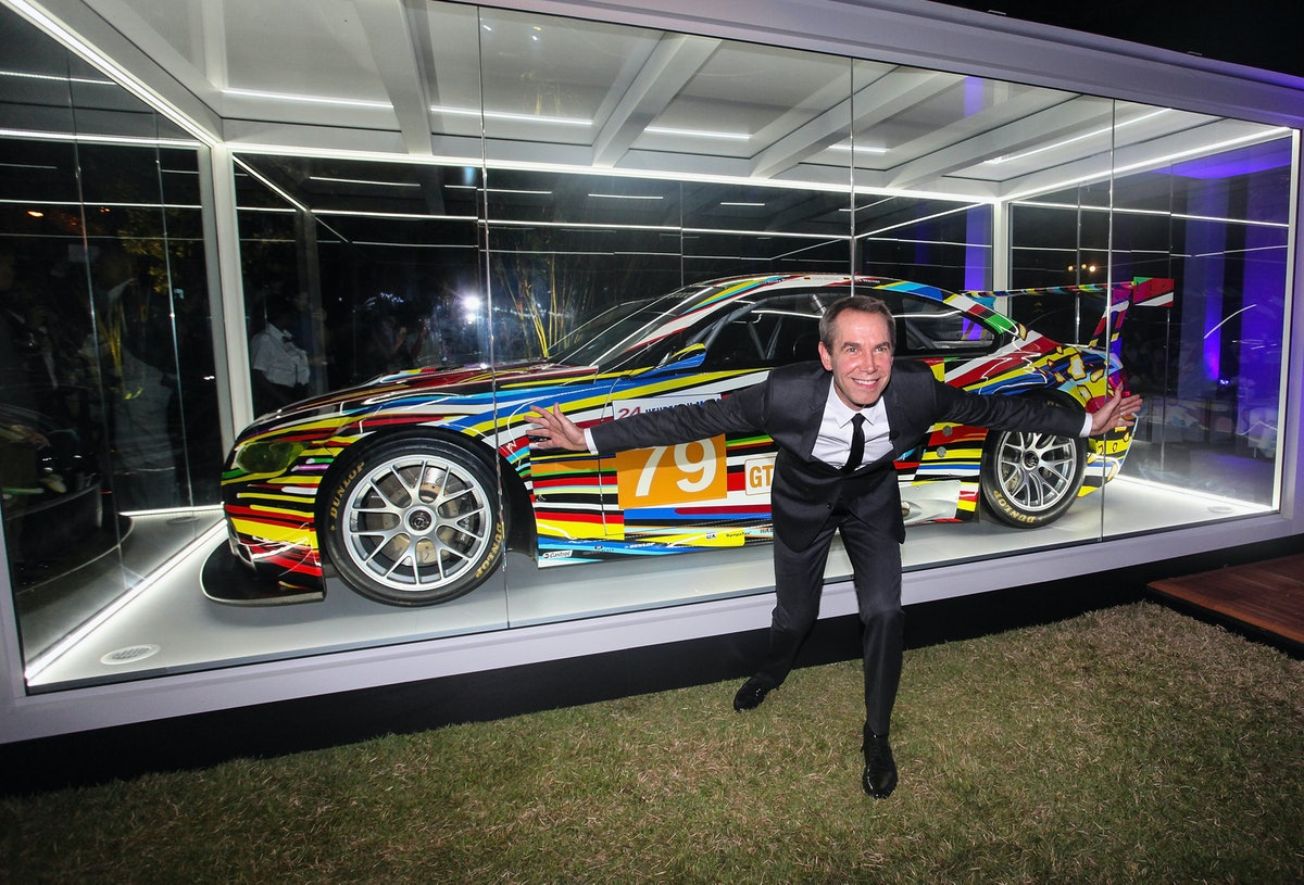 Jeff Koons BMW Art Car US Premiere And Andy Warhol BMW Art Car Exhibition At Art Basel In Miami Beac...