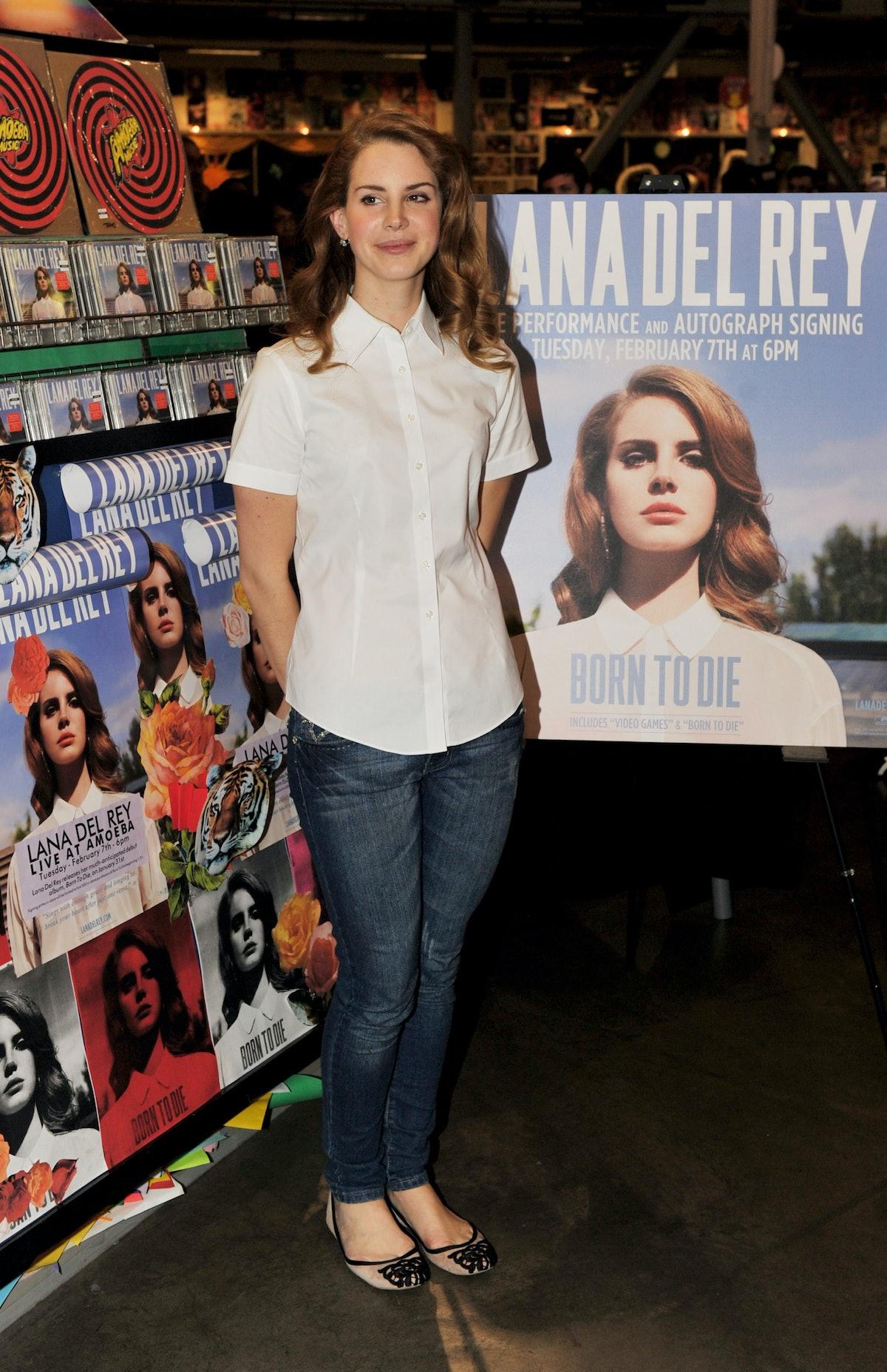 Lana Del Rey Performs At Amoeba Music Hollywood