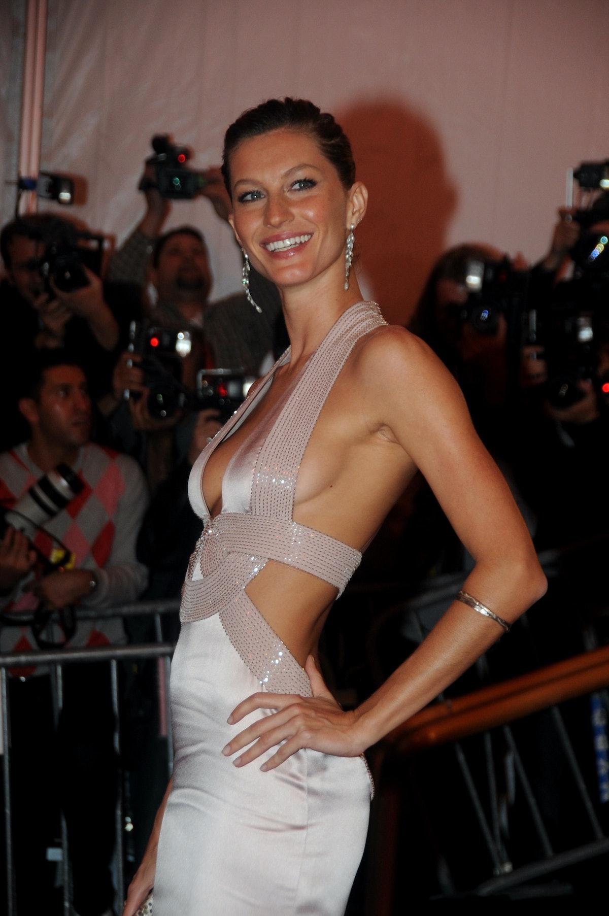Gisele Bundchen at the Costume Institute Gala celebrating Su