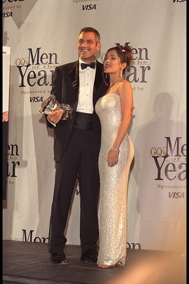 George Clooney wearing a black tux