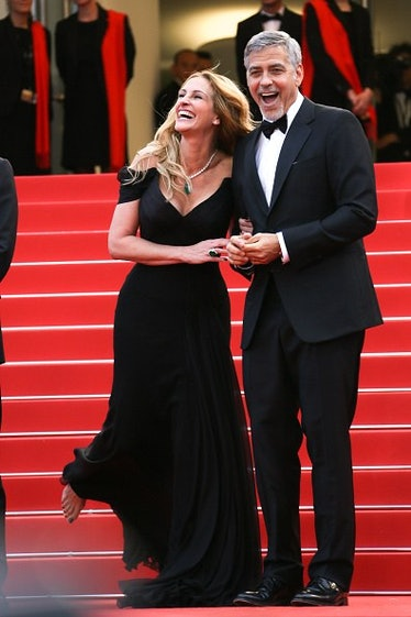 George and Julia Roberts on the carpet
