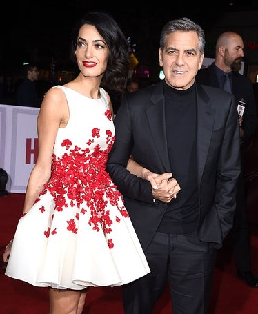 George and AMal on a red carpet