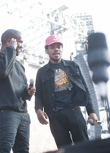 Kanye West and Chance the Rapper