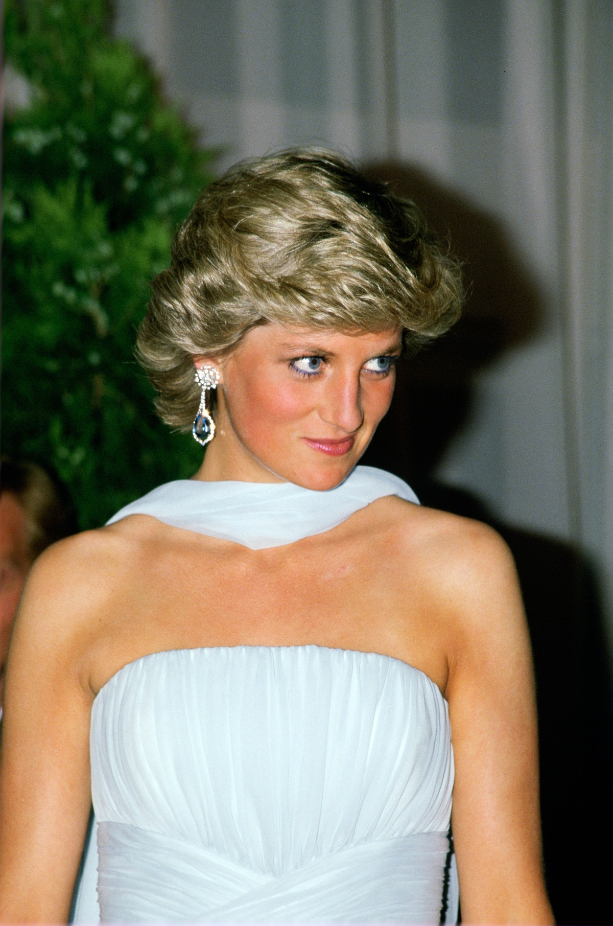 Diana, Princess of Wales at the Cannes Film Festival for a g