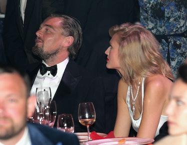 Toni Garrn and Leonardo DiCaprio