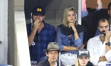 Kelly Rohrbach and Leonardo DiCaprio