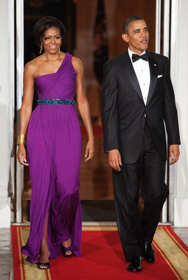 President Obama And Michelle Obama Welcome President And First Lady Kim To The State Dinner