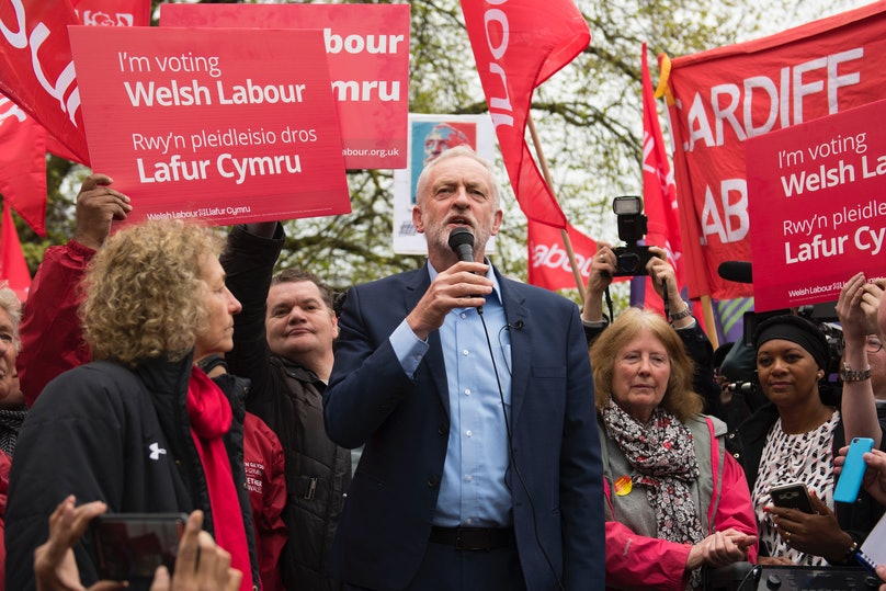 Labour Leader Jeremy Corbyn On The Campaign Trail In Cardiff