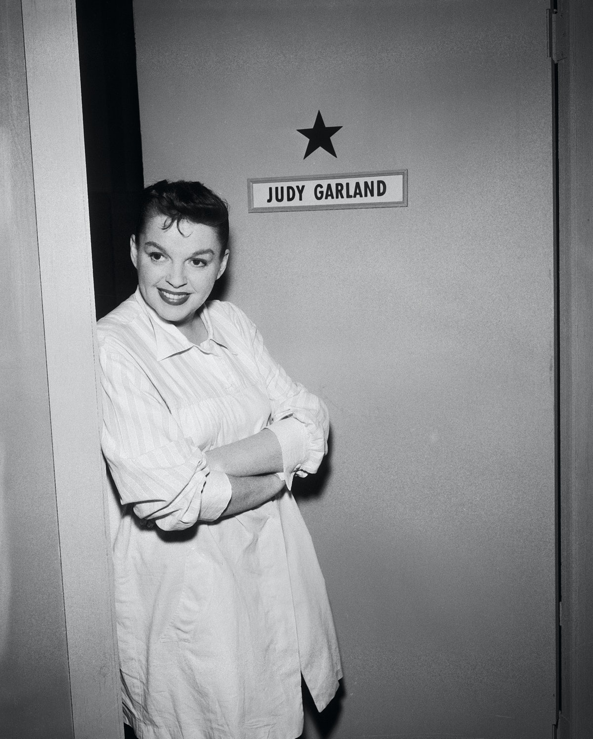 Judy Garland Stands Outside Her Dressing Room