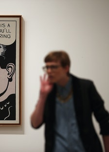 Press Preview For The Tate Modern's Lichtenstein: A Retrospective Exhibition