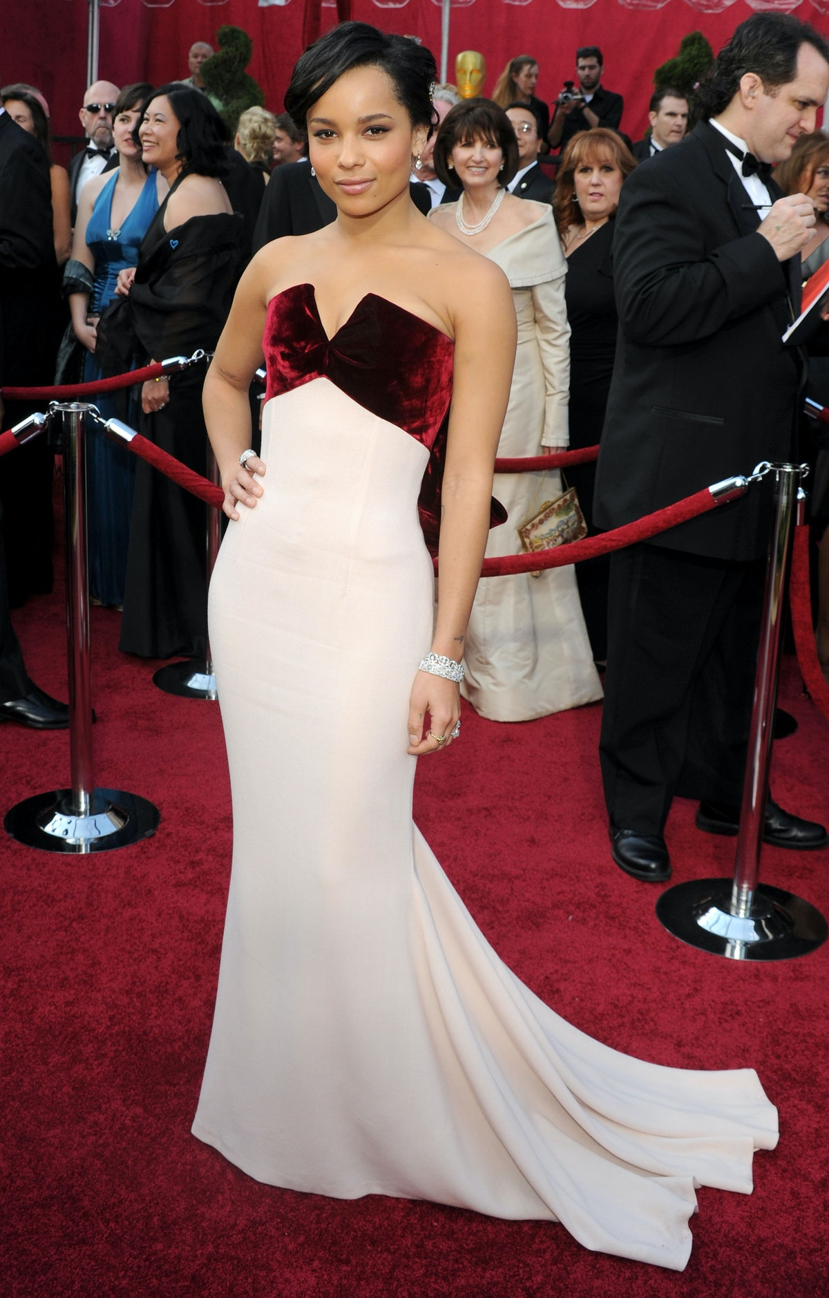 Zoe Kravitz's first oscars dress.