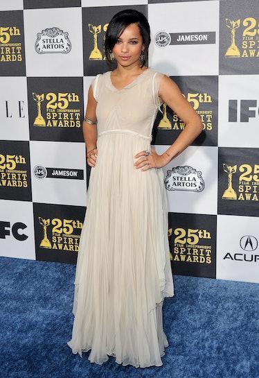 Ol' Zoe Kravitz in a dress.