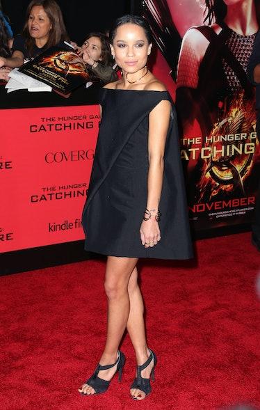 Zoe Kravitz at Hunger Game carpet.
