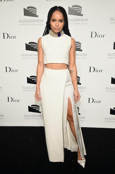 Zoe KRavitz in white.