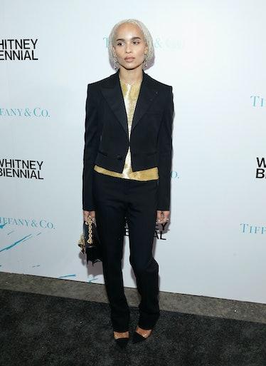 Zoe Kravitz in suit.
