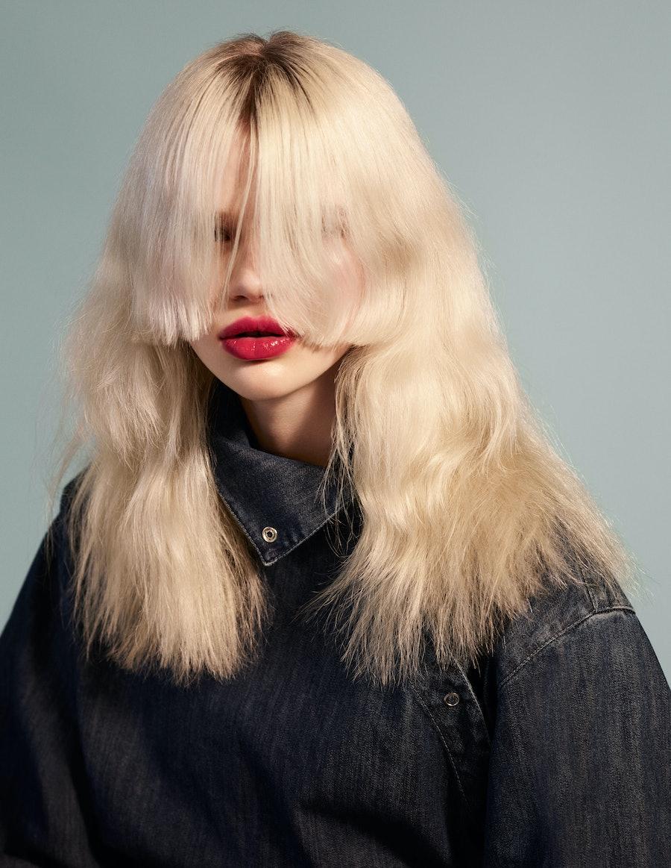 Stella Lucia with a dramatic haircut