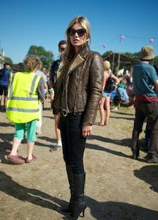 Kate Moss At Glastonbury Festival 2013