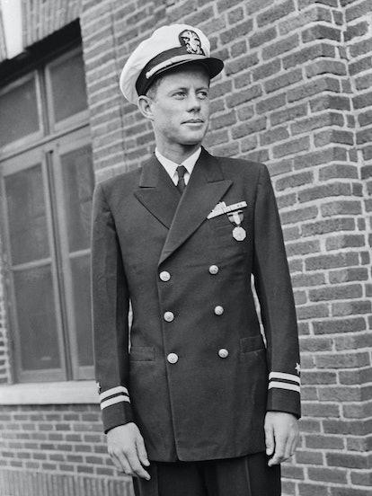 John F. Kennedy in Navy Uniform
