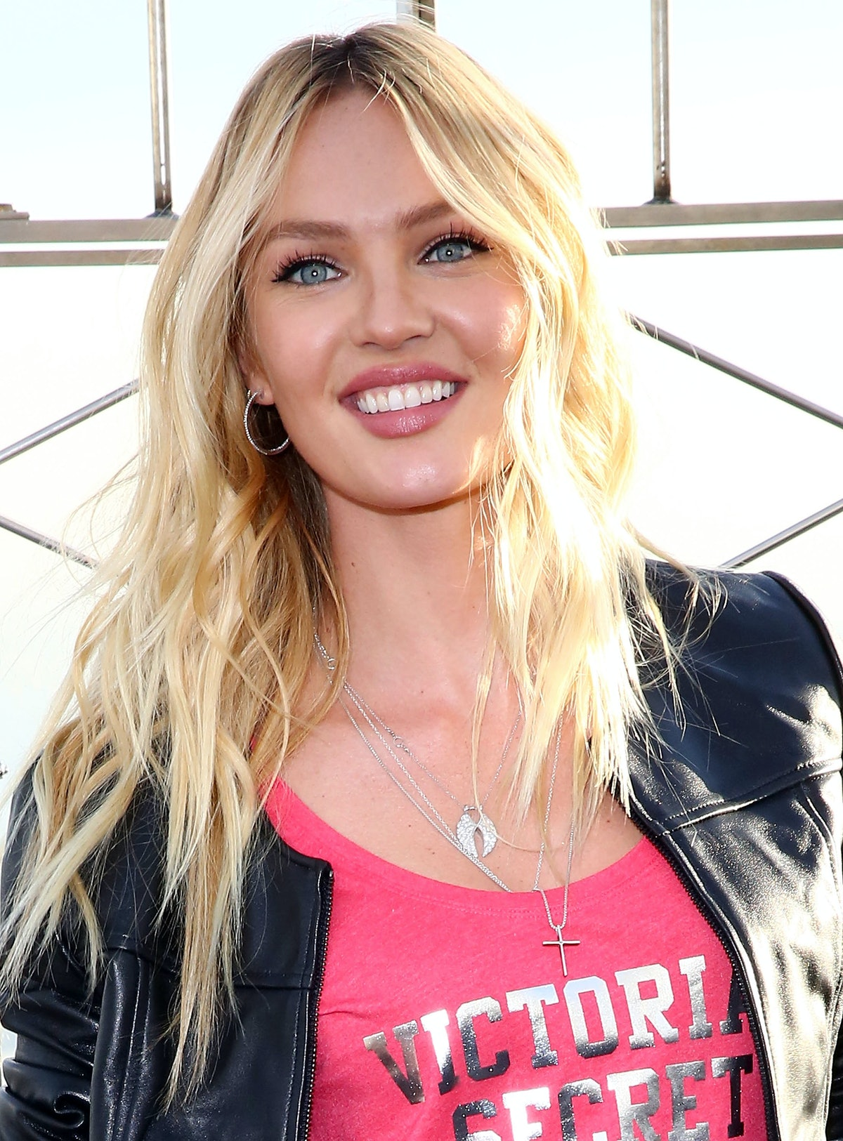 Candice Swanepoel Visits The Empire State Building