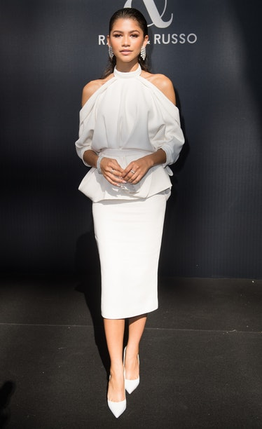 Zendaya in white outfit.