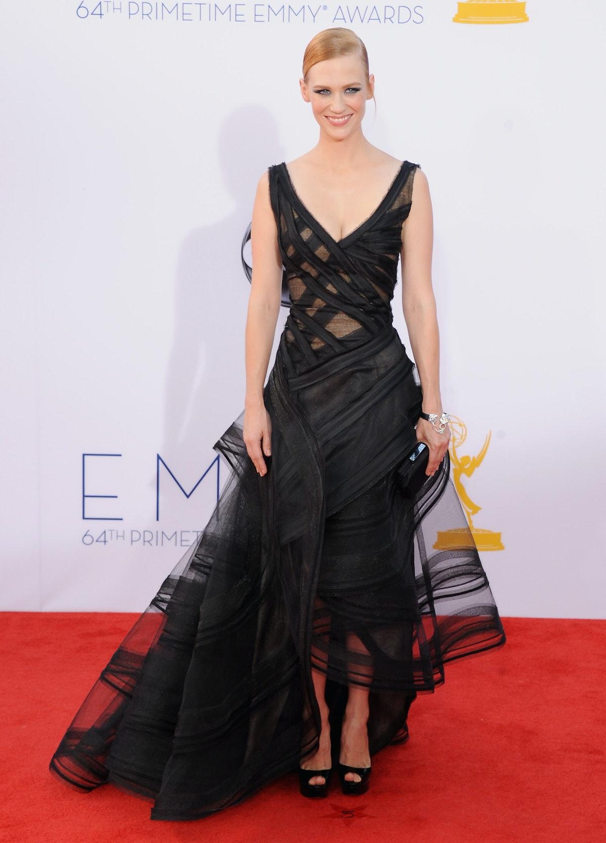 January Jones Black Dress Emmys