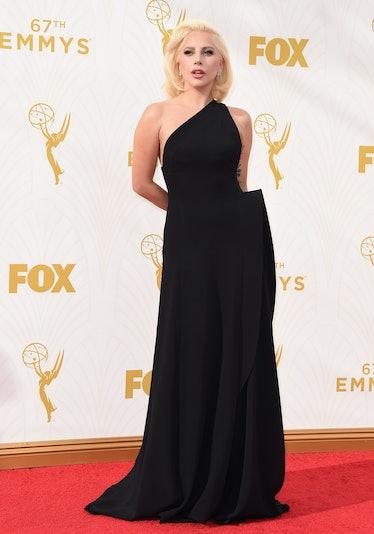 Lady Gaga black dress emmys