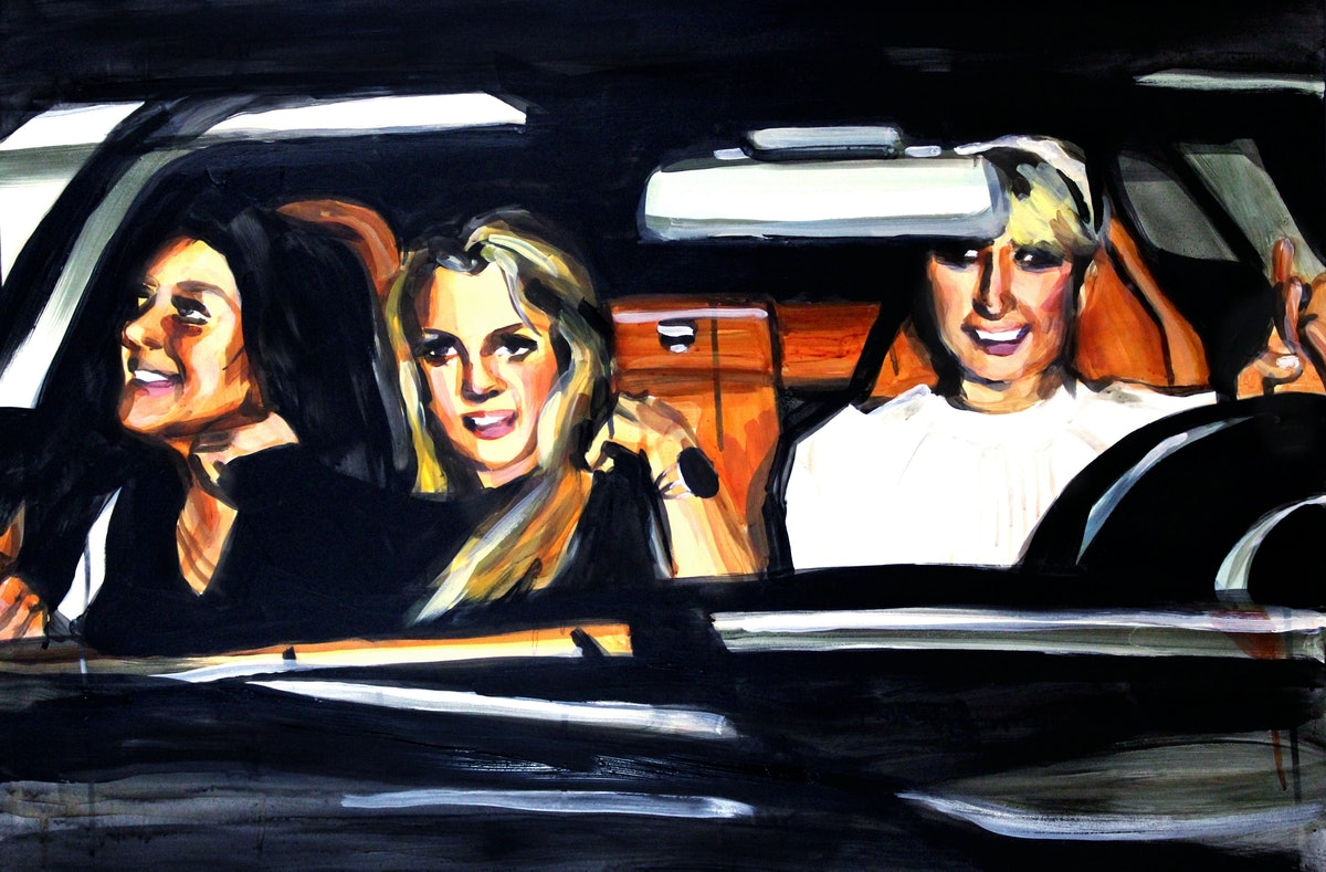 Laura Collins Lindsay Lohan Britney Spears and Paris Hilton in a Car.JPG