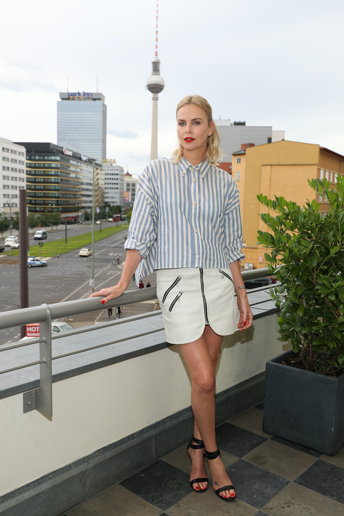Charlize Theron Promotes 'Atomic Blonde' In Berlin
