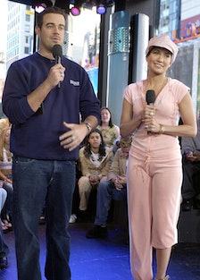 """Jennifer Lopez Visits MTV's """"TRL"""" - May 22, 2002"""