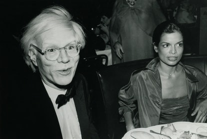 Andy Warhol and Bianca Jagger at Tavern on the Green for Bette Davis' birthday party
