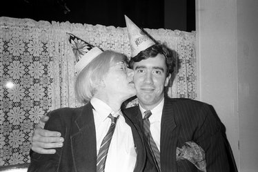 Andy Warhol, ? 1981 at Rupert Smith's Birthday Party at 65 Irving