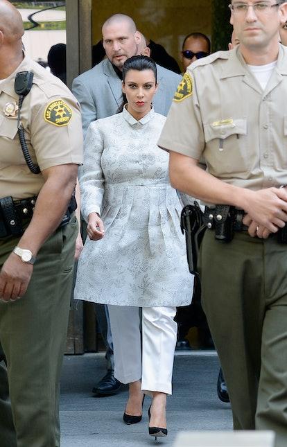 Kim Kardashian And Kris Humphries Attend Their Divorce Hearing