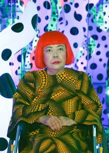 """Yayoi Kusama """"I Who Have Arrived In Heaven"""" Exhibition - Press Preview"""