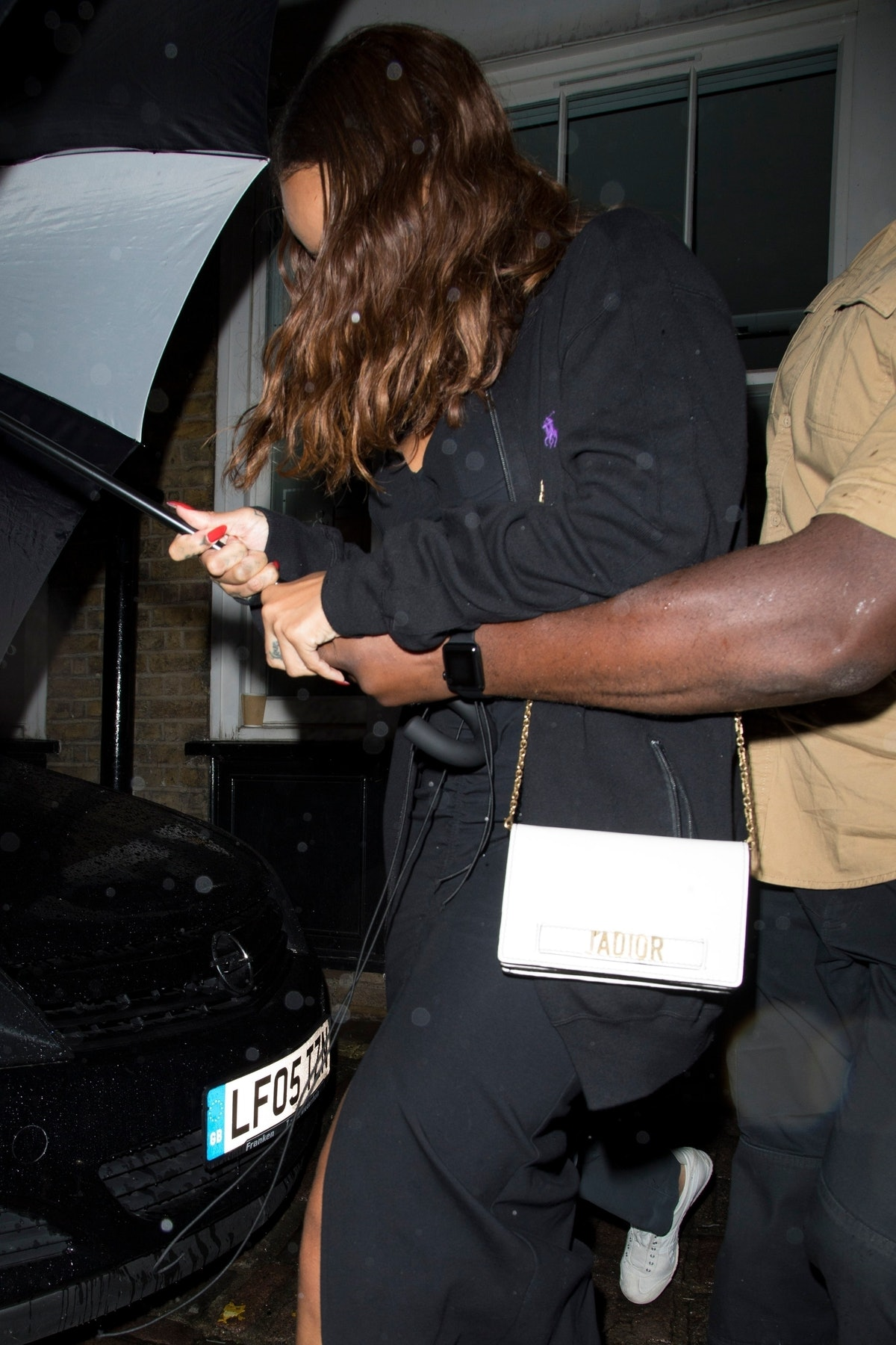 Rihanna slips out of the Chiltern Firehouse with rumored beau Hassan Jameel