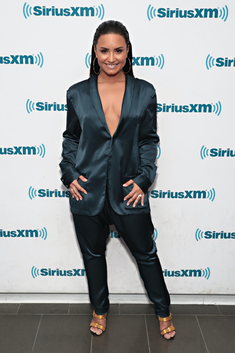 Demi Lovato Visits 'The Morning Mash Up' On SiriusXM Hits 1 Channel At The SiriusXM Studios In New York