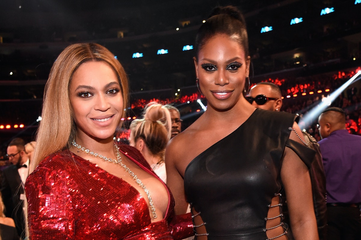 Beyonce and Laverne Cox