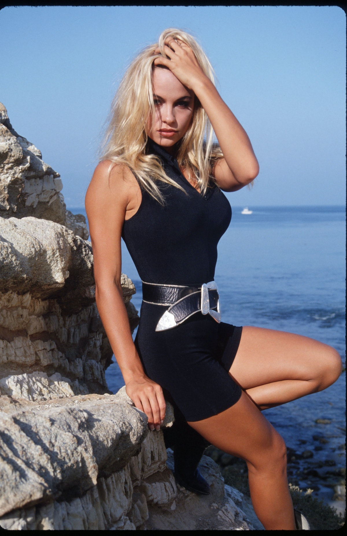 Pamela Anderson On Malibu Beach
