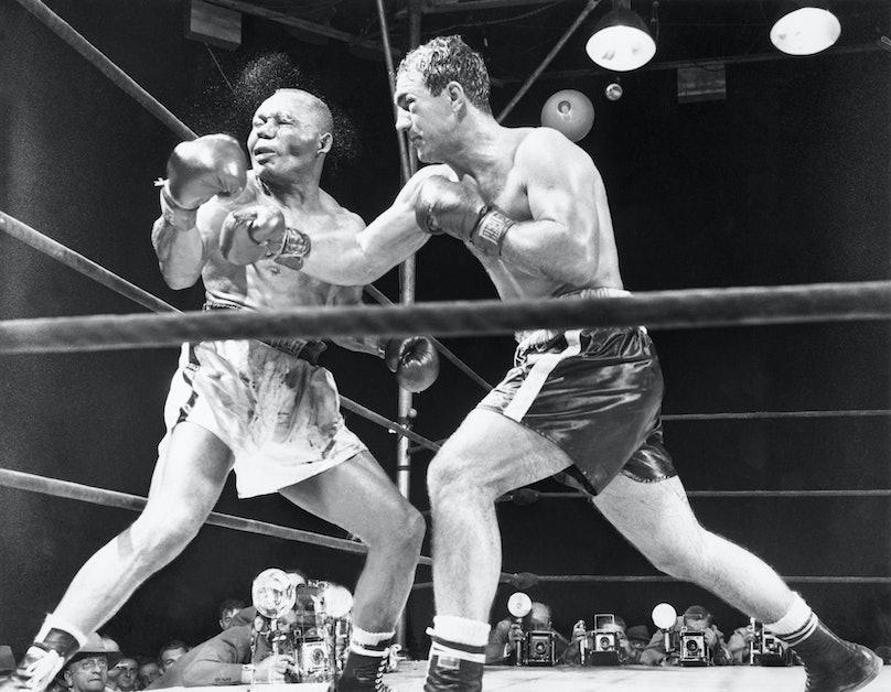 Rocky Marciano Defeats Jersey Joe Walcott