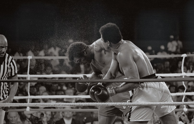 Muhammad Ali Hitting George Foreman