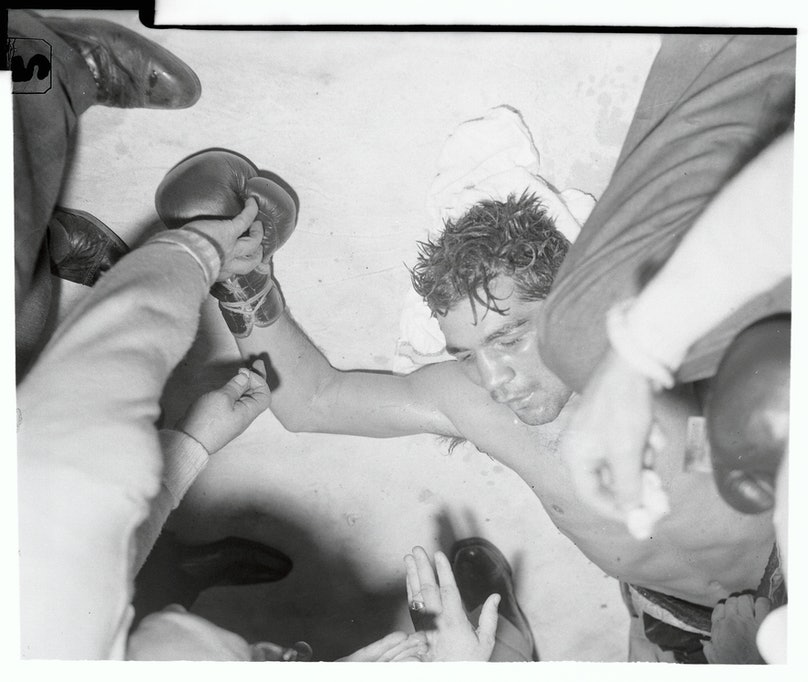 Tony DeMarco After Being Knocked out in the Ring