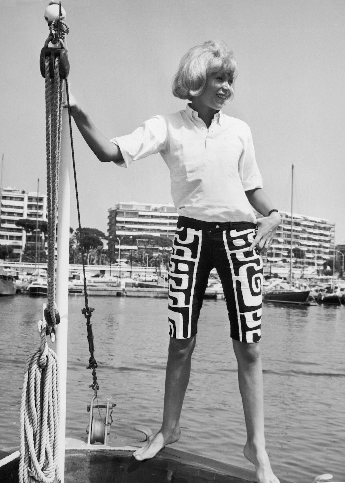 Mireille Darc In Cannes In 1967