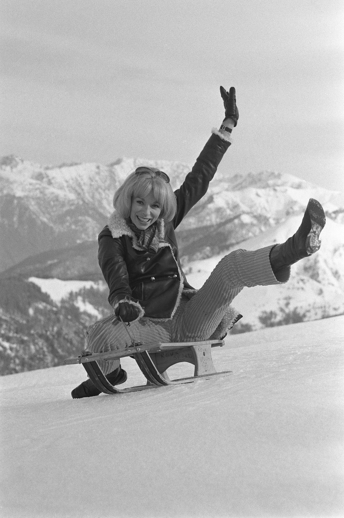 Mireille Darc In December, 1966.