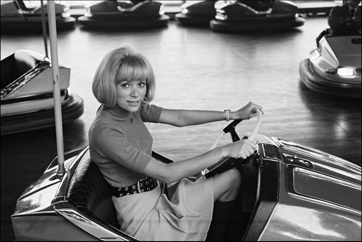 Mireille Darc At A Funfair In France In July, 1973.
