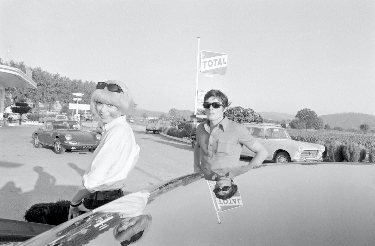 Mireille Darc et Alain Delon en 1968