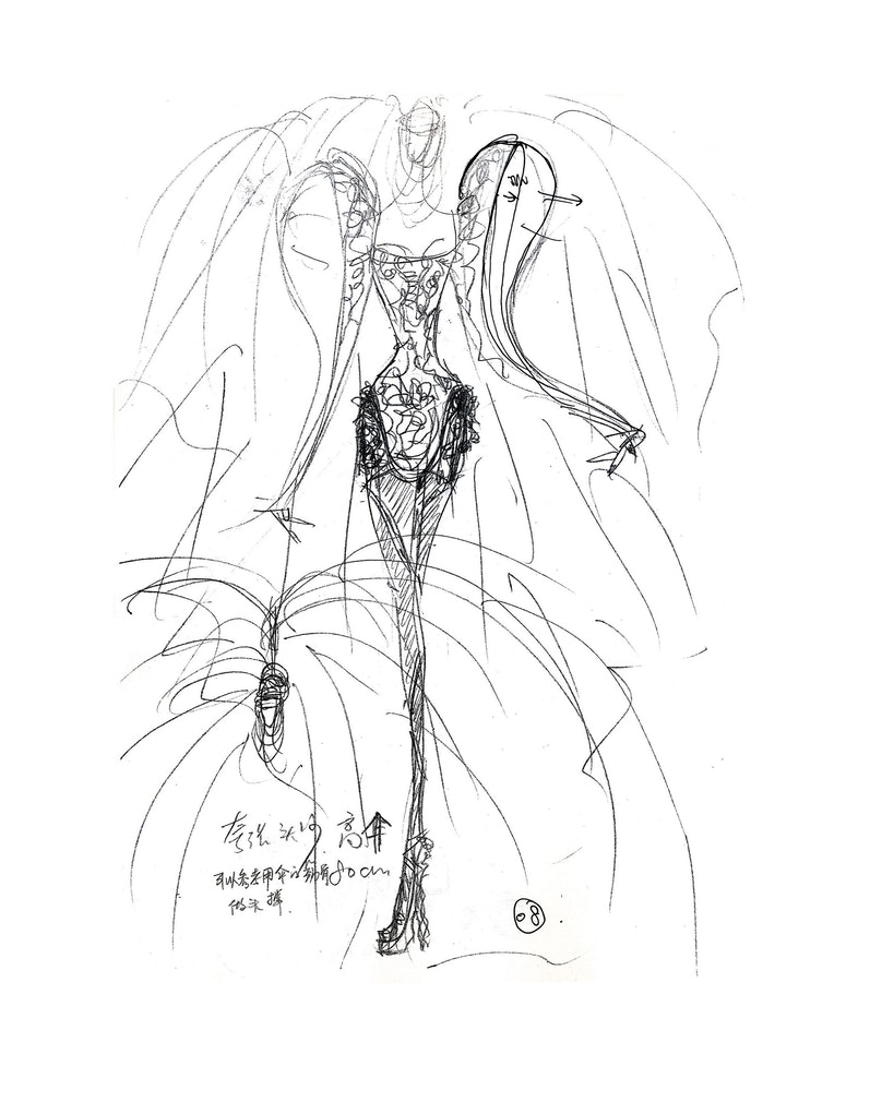 Guo Pei %22Legend of the Dragon 2012%22 Couture- Sketch 1.jpg