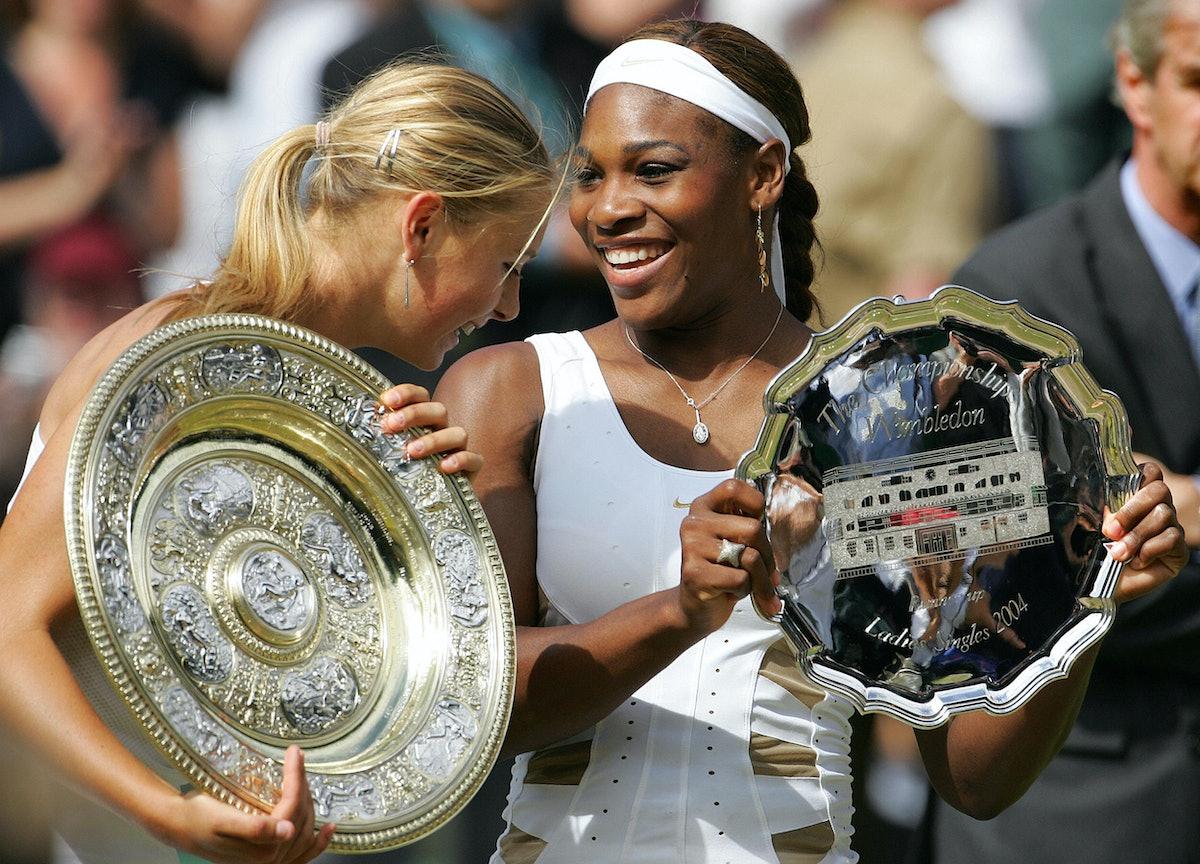 Maria Sharapova of Russia and Serena Wil