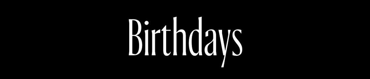 In and Out: Birthdays