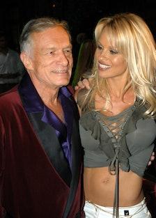 Pamela Anderson and Hugh Hefner